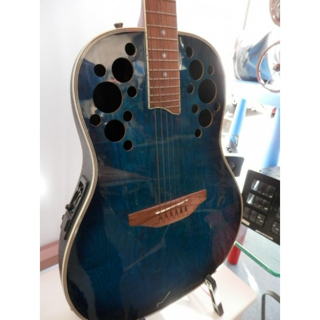 Guitarra Wesley Viscount Semi Acustica Azul_cash creator_segunda mano
